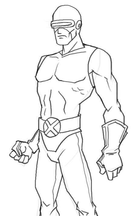 450x713 How To Draw Cyclops
