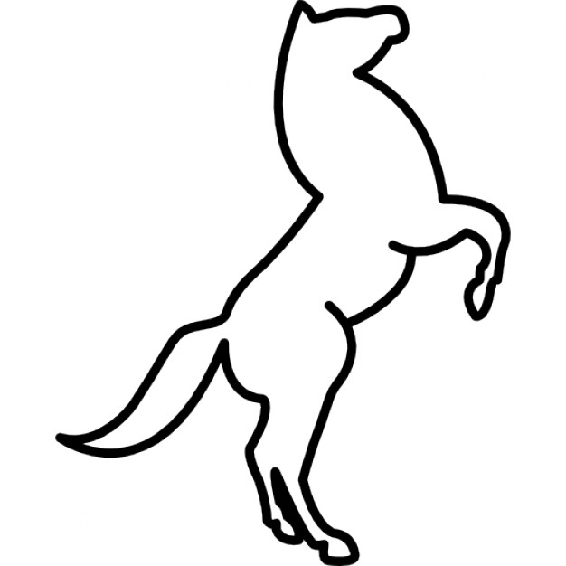 626x626 Stand Up Horse Outline Icons Free Download