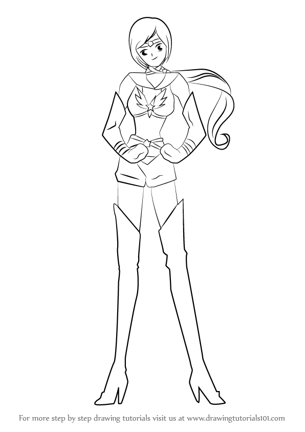 596x843 Learn How To Draw Sailor Star Healer From Sailor Moon (Sailor Moon
