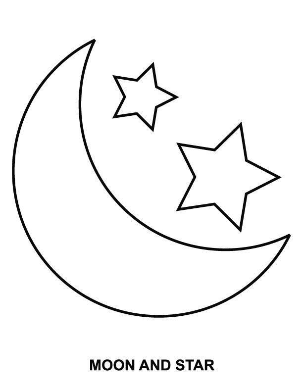 612x792 Coloring Pages Of The Moon