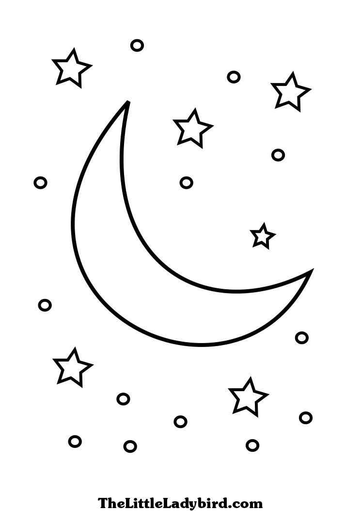 745x1053 Crescent Moon Coloring Pages