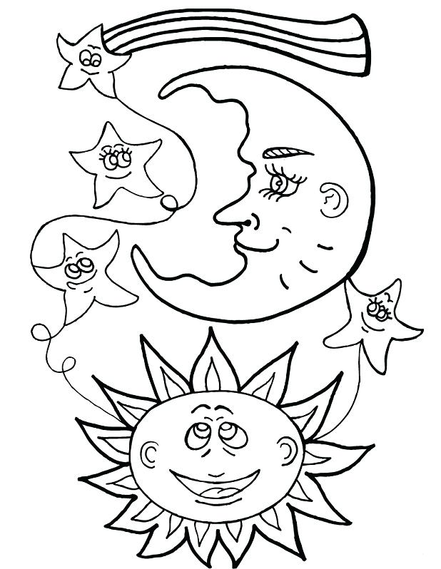 618x798 Moon And Stars Coloring Pages Genesisar.co