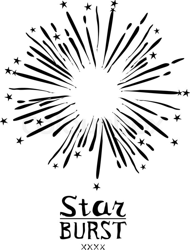609x800 Dirty Vintage Hipster Style Vector Monochrome Starburst With Ray