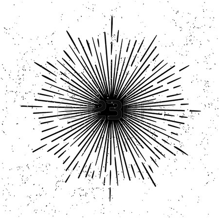 450x450 Hand Drawn Monochrome Black Hipster Style Retro Vector Starburst