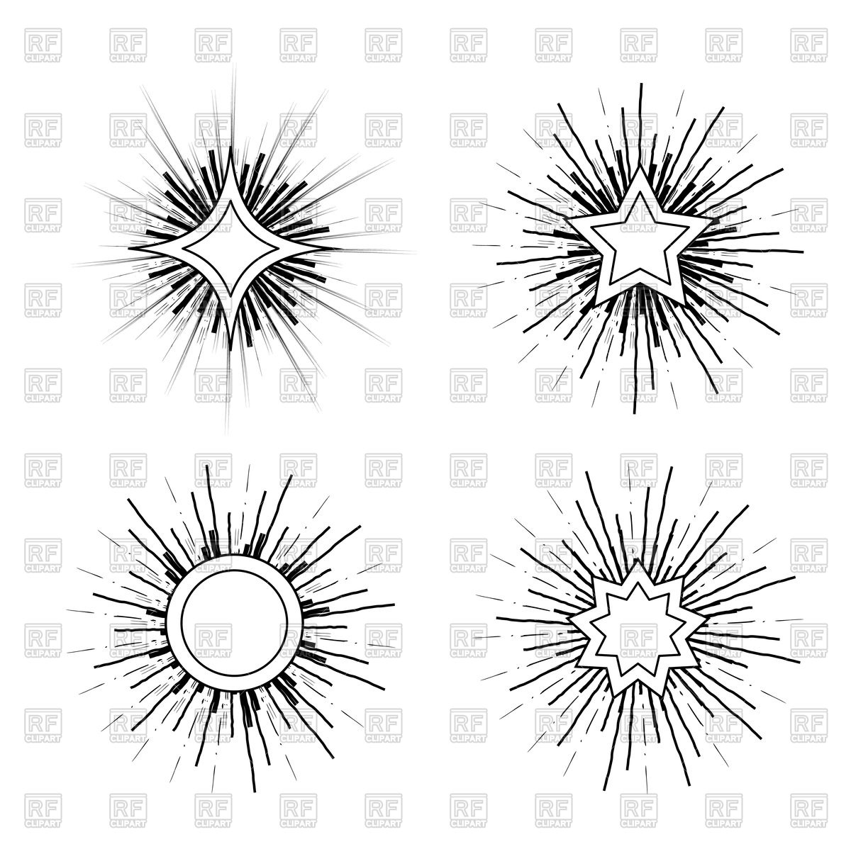 1200x1198 Hipster Style Vintage Starburst With Ray Royalty Free Vector Clip