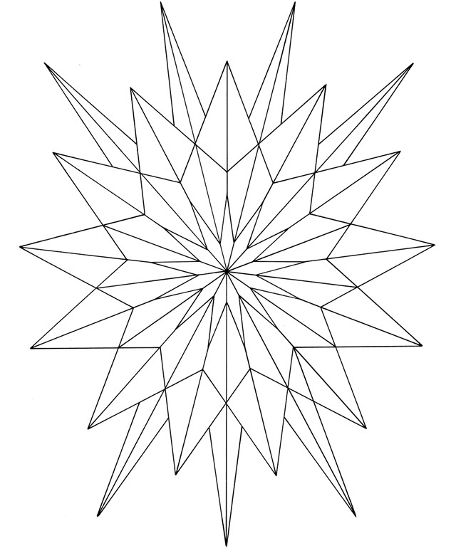 633x770 starburst coloring pages starburst outline coloring page