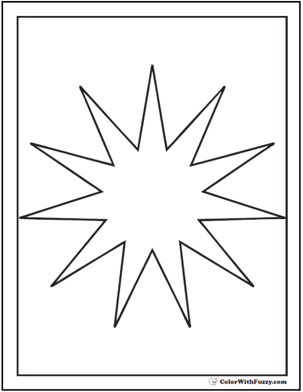 590x762 Starburst Coloring Pages Starburst Outline Coloring Page