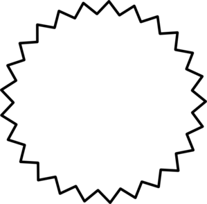 299x294 Starburst Outline Black Clip Art