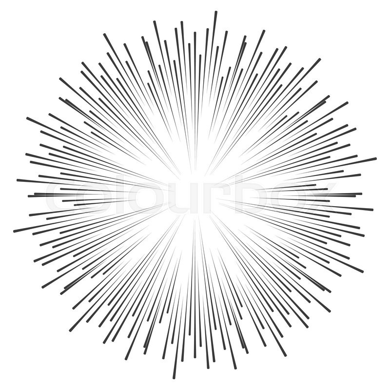 800x800 Vector Comic Book Speed Lines Background. Starburst Explosion