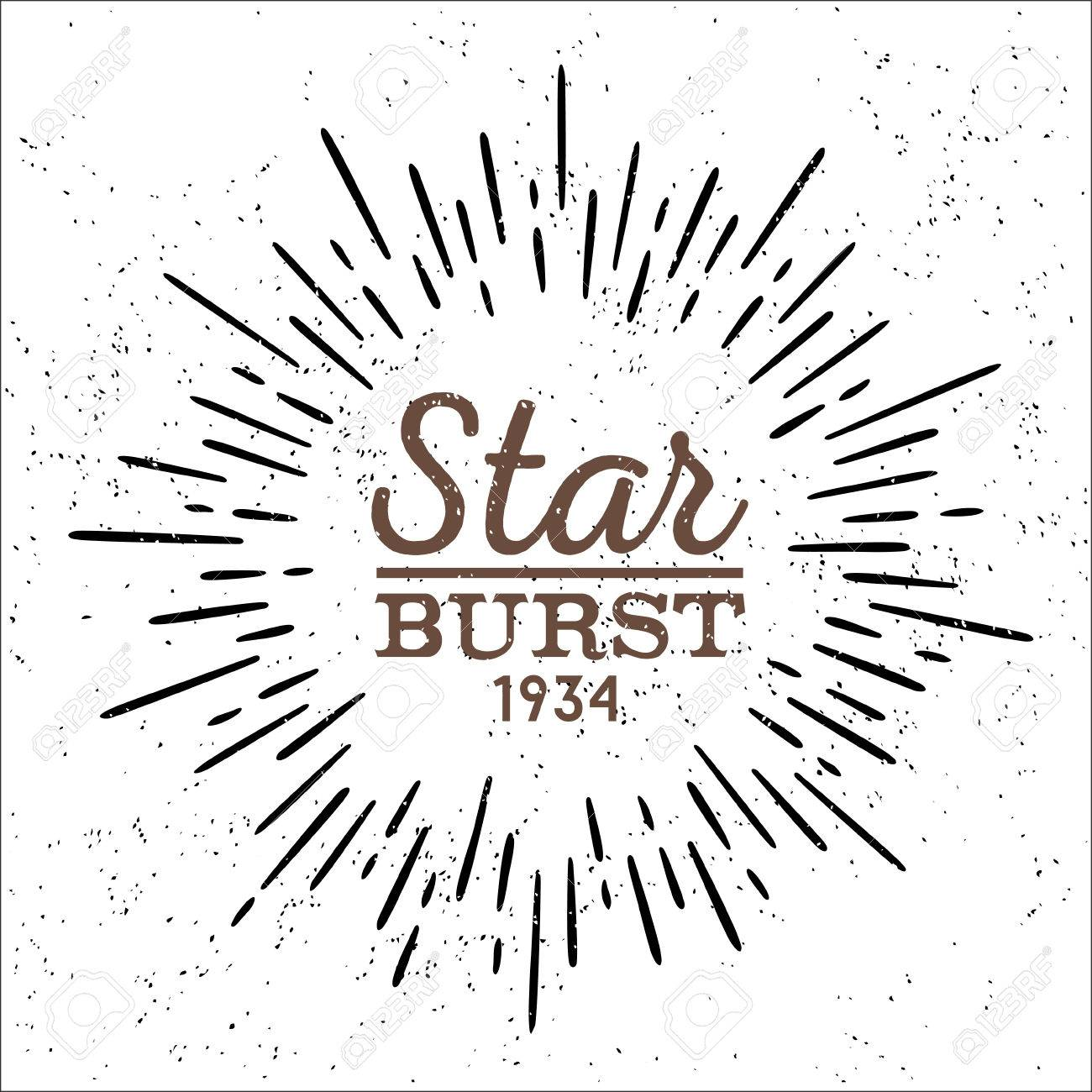 1300x1300 Dirty Vintage Hipster Style Vector Monochrome Starburst