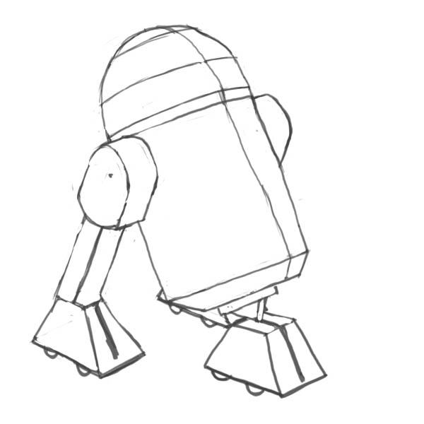 600x600 How To Draw Star Wars Characters R2d2