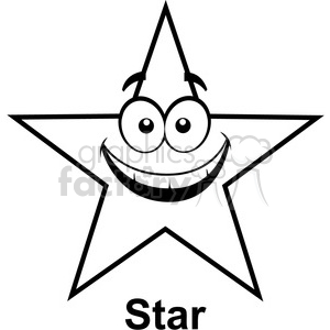 300x300 Royalty Free Geometry Star Cartoon Face Math Clip Art Graphics