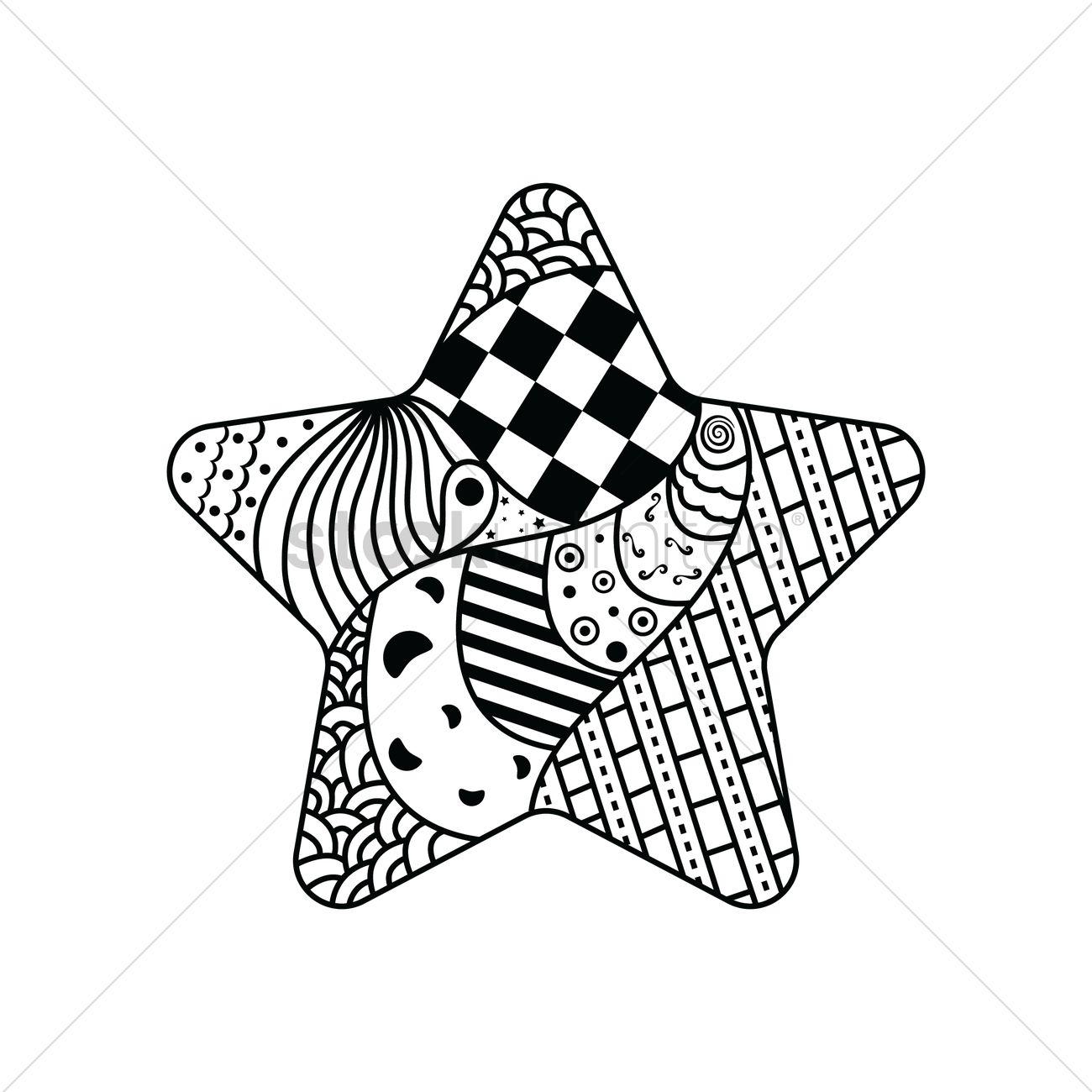 1300x1300 Free Decorative Star Design Vector Image