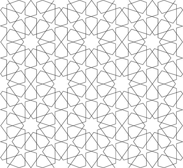 600x551 Geometric Design Tenfold Star In A Rectangle