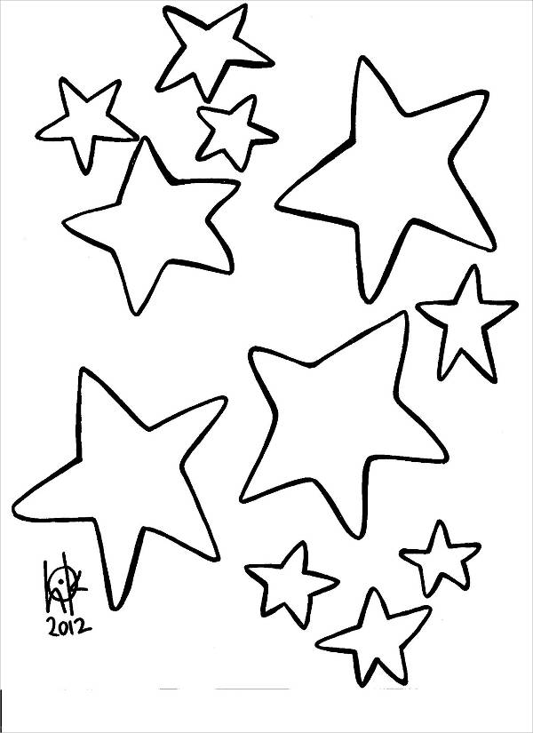600x825 Star Coloring Pages Free Amp Premium Templates