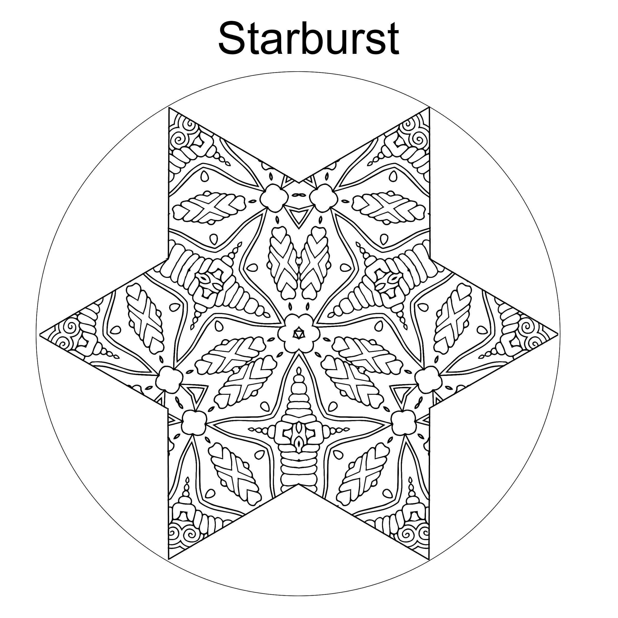 2400x2400 Star Coloring Page Star Design Star Pattern Printable