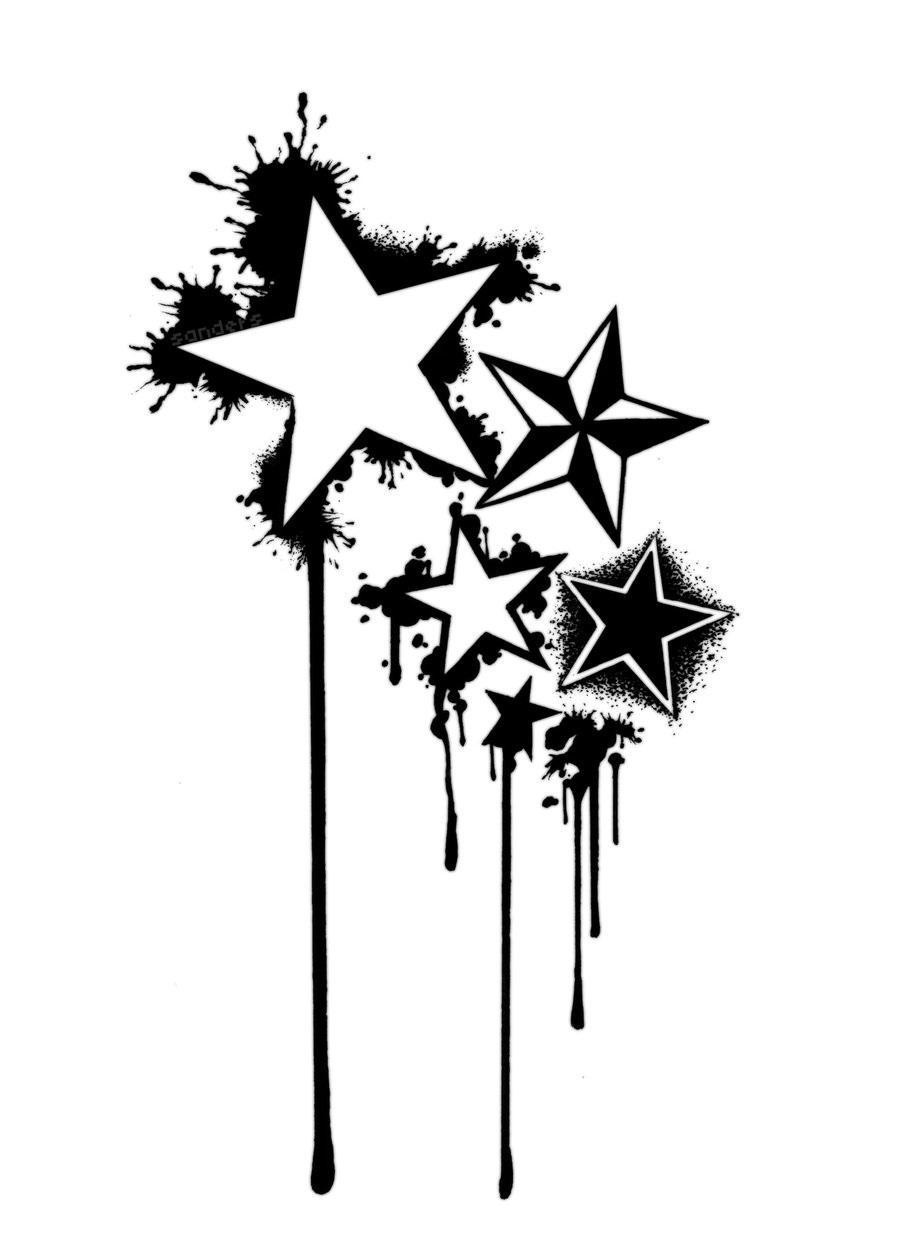 900x1237 Star Tattoo Designs