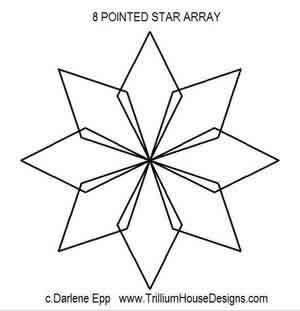 300x311 8 Pointed Star Array Darlene Epp Digitized Quilting Designs