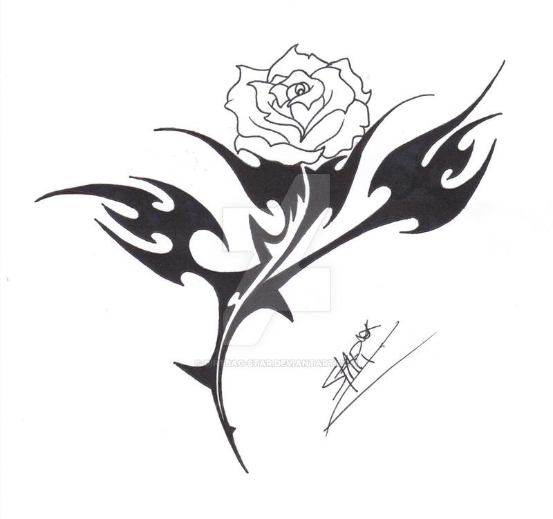 800x752 Tribal Rose Design By Dirtbag Star