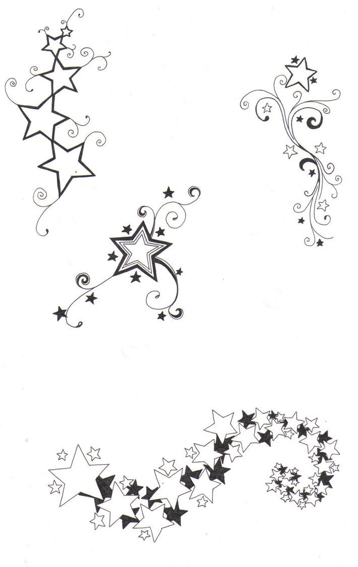 710x1126 Sketches Of Stars And Hearts Star Designs By ~crazyeyedbuffalo