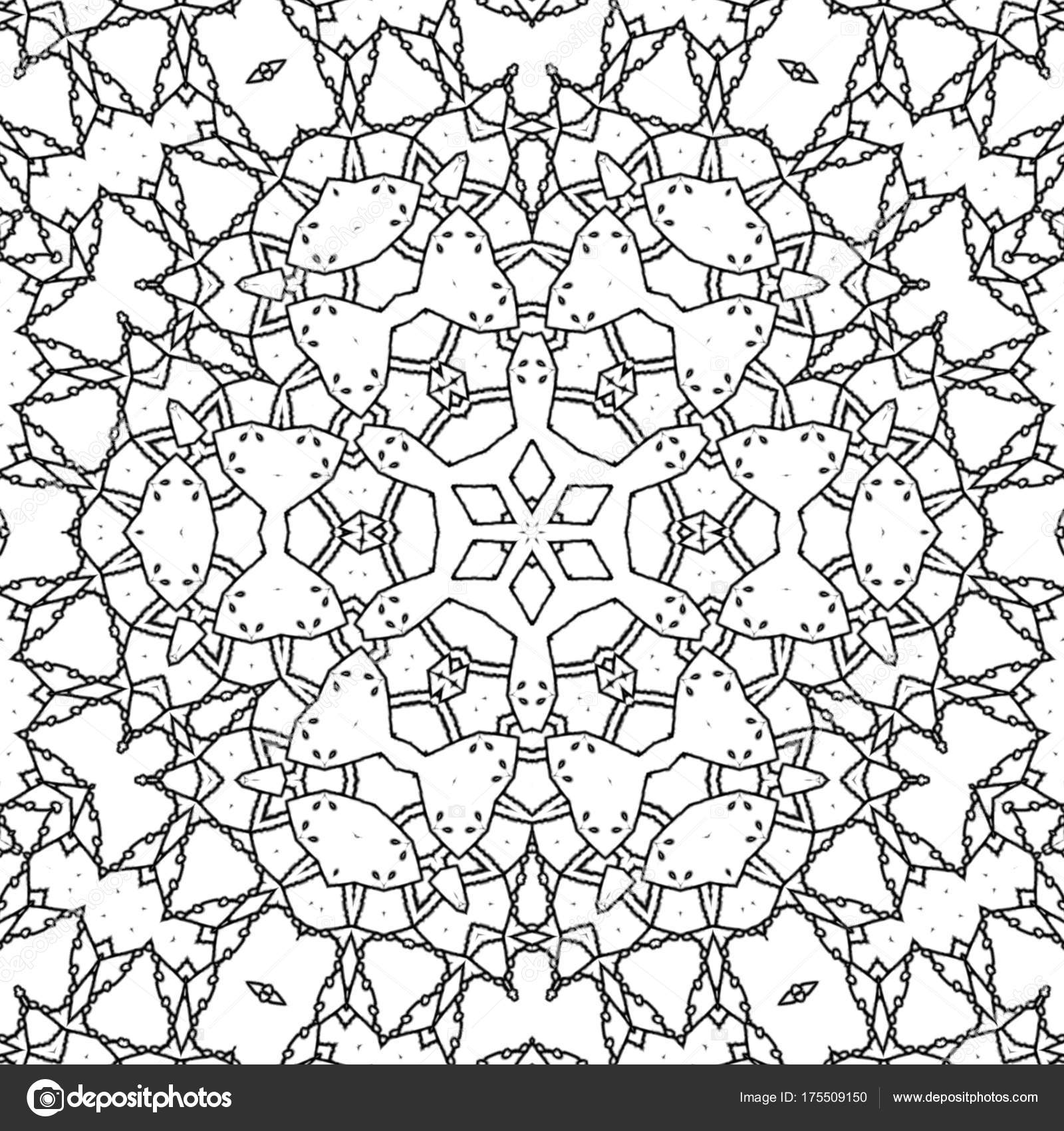 1600x1700 Abstract Coloring Page Drawing Monochrome Mandala Intricate Star