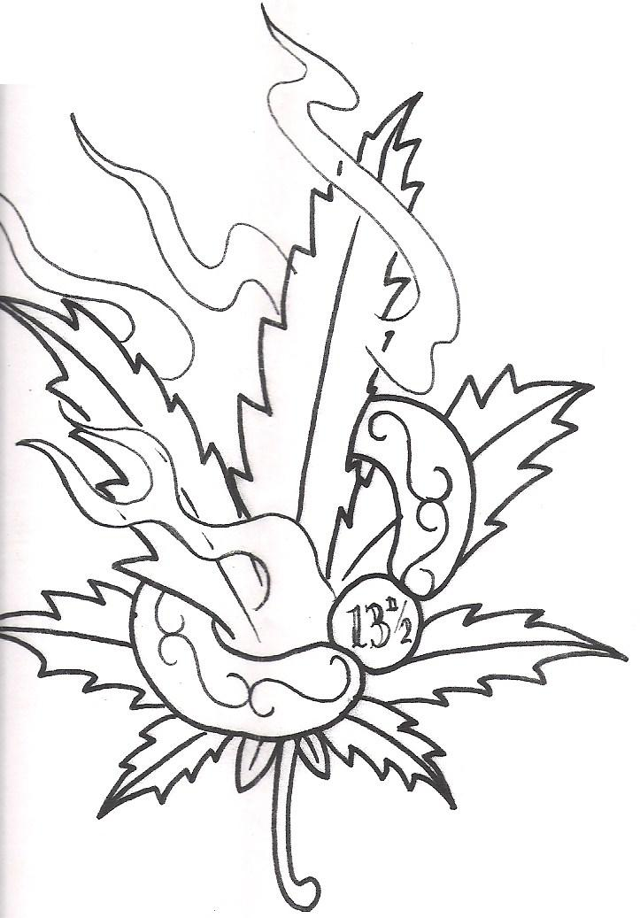 723x1037 Collection Of Star Leaf Tattoo Design
