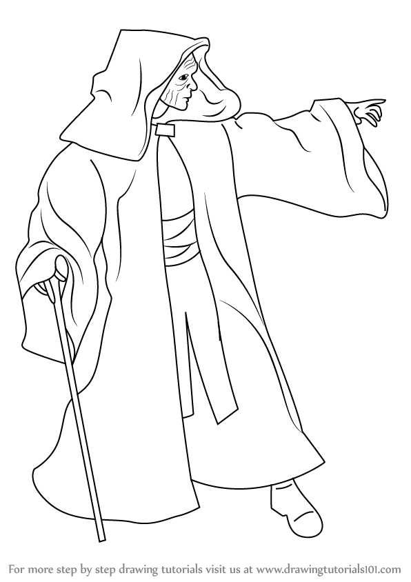 596x844 Learn How To Draw Emperor Palpatine From Star Wars (Star Wars