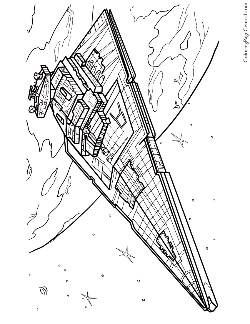 850x1100 Star Wars Star Destroyer Coloring Page Coloring Page Central