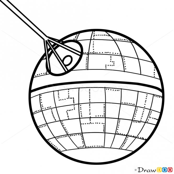 665x665 Millennium Falcon Drawing