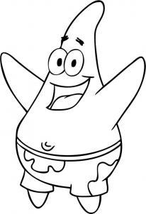 206x302 How To Draw How To Draw Patrick Star From Spongebob Squarepants