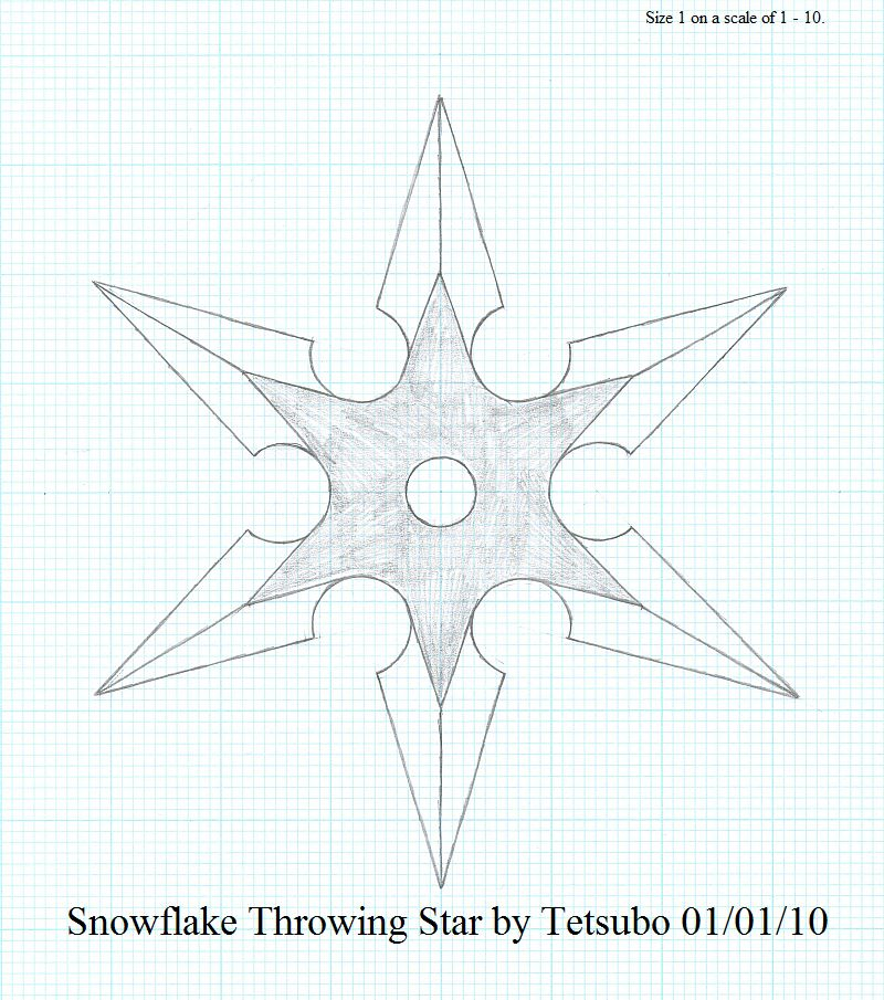 800x905 Snowflake Throwing Star By Ironstaff