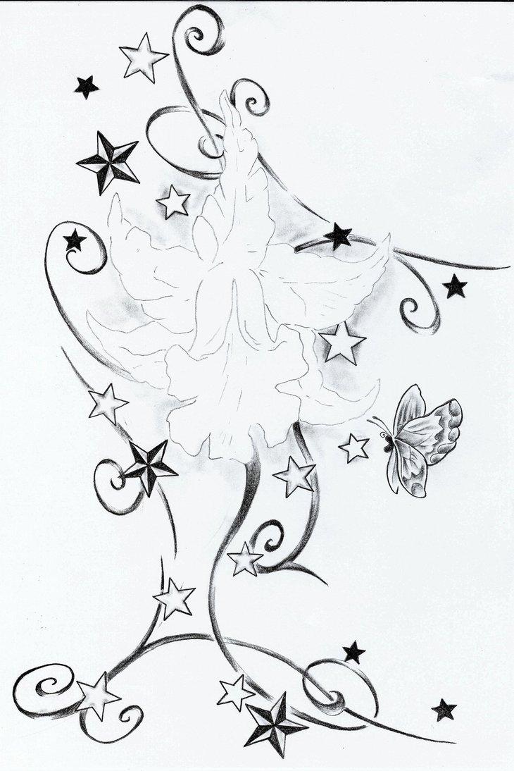 730x1094 Starsflowertribaltattoodesign By 2face Tattoo