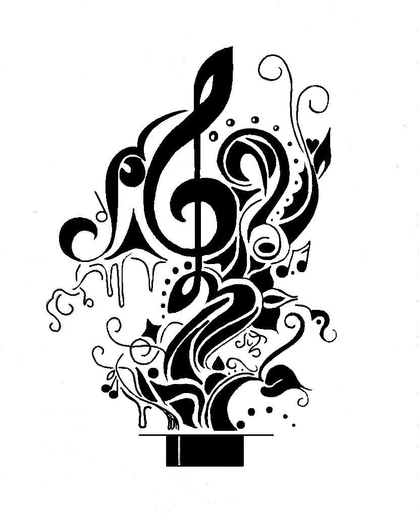 830x1024 Collection Of Music And Star Tattoo Designs
