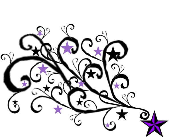 600x480 Purple Star Tat By Stock Kat