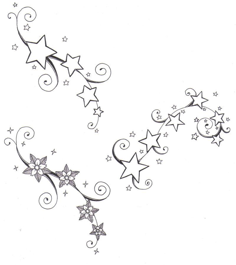 800x899 Flowers And Stars By Crazyeyedbuffalo