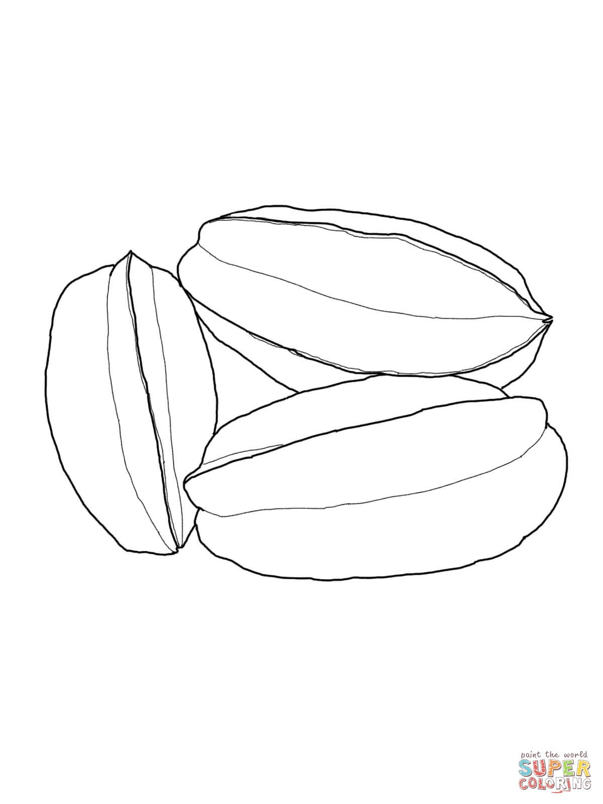 1200x1600 Carambola Fruits Coloring Pages For Kids Beautiful Star Fruit