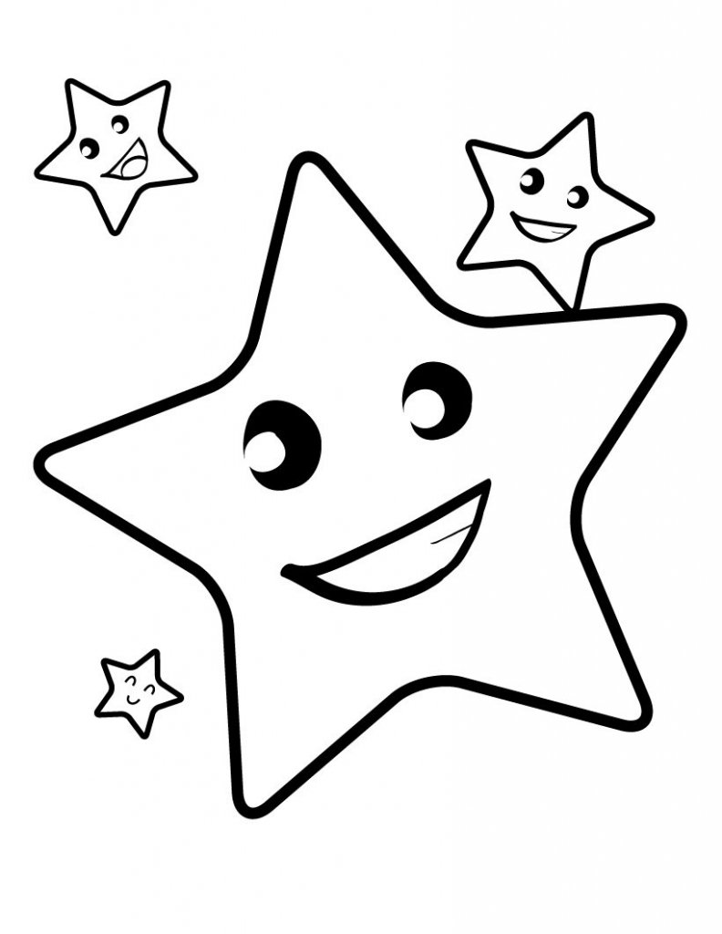 792x1024 Star Coloring Page