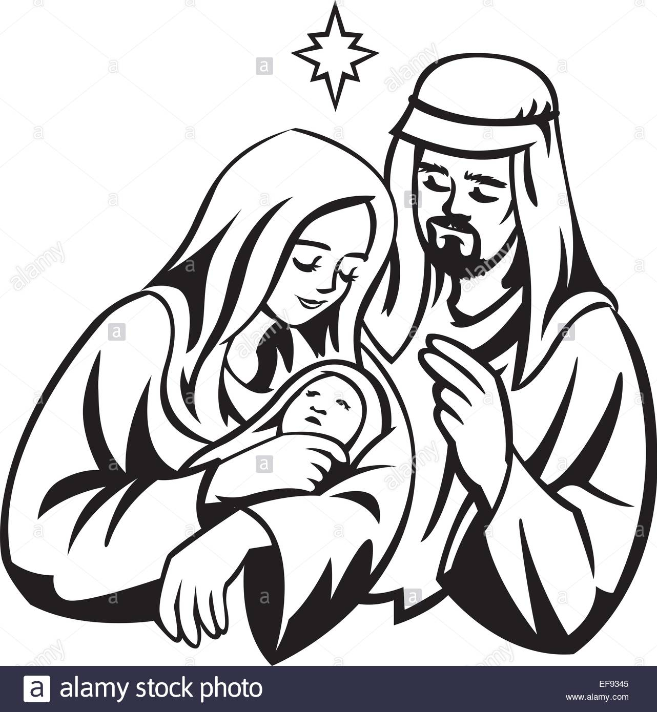1282x1390 A Portrait Of Mary Joseph And Jesus Under The Star Of Bethlehem