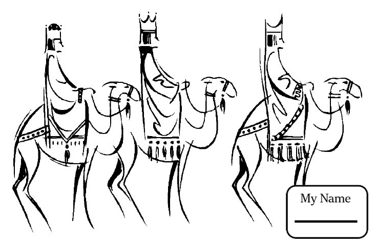 734x479 Three Wise Men Star Of Bethlehem Christianity Bible Coloring Pages