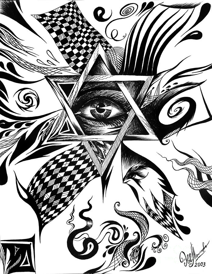 697x900 Star Of David. Power. Immortality. Glory Drawing By Sofia Metal Queen