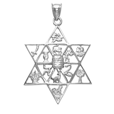 395x395 Fine 925 Sterling Silver Jewish Star Of David Charm 12