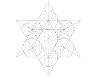340x270 Star Of David Golden Spiral Passover Coloring Page 1 Printable