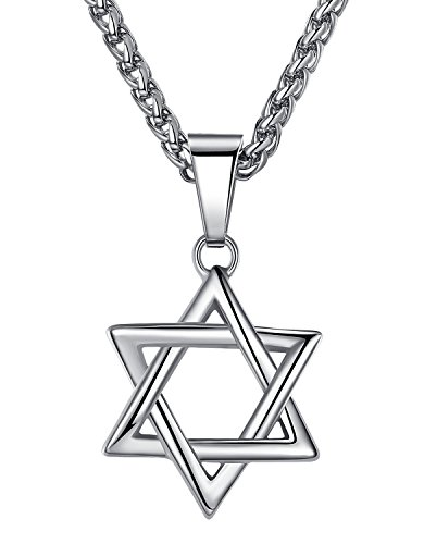 390x500 Stainless Steel Star Of David Pendant Necklace, Unisex