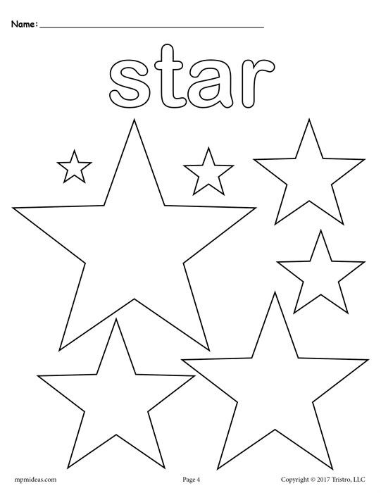 541x700 Free Stars Coloring Page