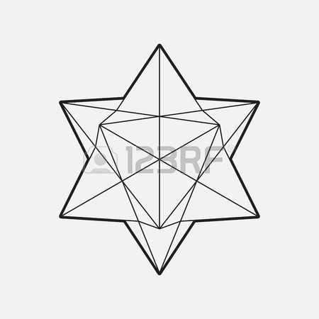450x450 Modern Geometric Symbol, Line Design, Vector, Star Shape, Isolated