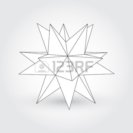 450x450 Polyhedron, Star Shape Royalty Free Cliparts, Vectors, And Stock