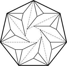 236x230 Stencil 3 Celtic Elven Heptagram Magic 7 Point Star Shape