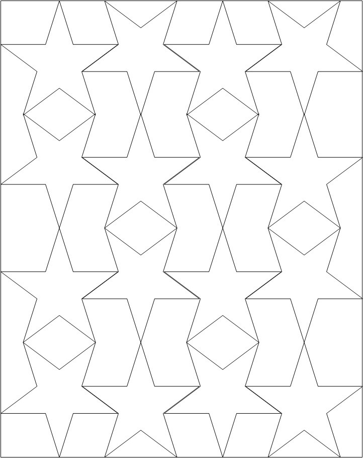 724x909 Star Coloring Page