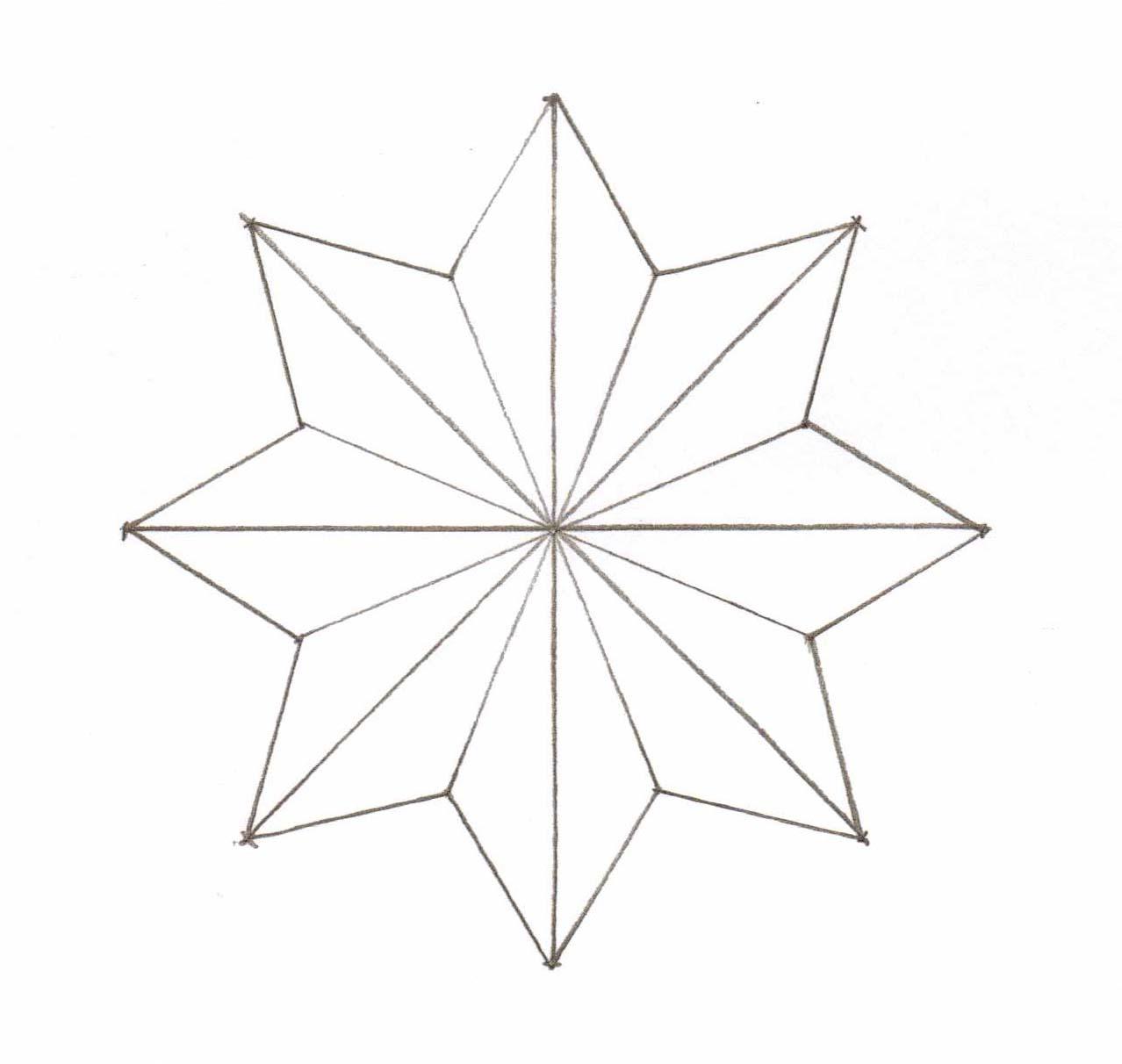 1278x1212 Star Outline Printable Collection