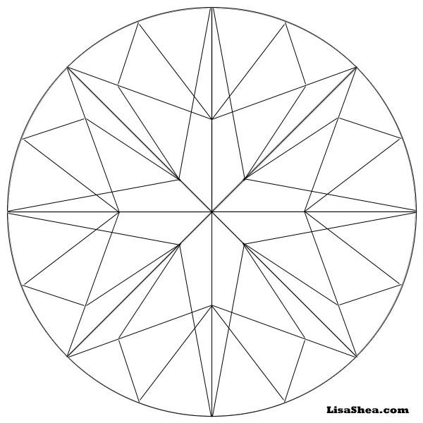 600x600 Star Printable Mandala